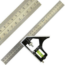 """Adjustable Woodworking Carpenter Combination Square Right Angle Ruler 300mm 12"""""""