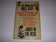 JOKER IN THE DECK by Richard S. Prather, Gold Medal Book #K1376, 1st Shell Scott