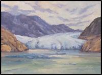 Jeff Love Original Oil Painting Juneau Alaska Mendenhall Glacier Impressionism