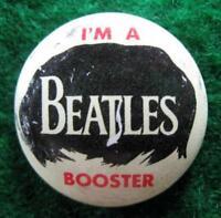 I'M A BEATLES BOOSTER BEATLES 1964 PINBACK BUTTON #588