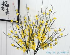 1 PCS 90 cm Artificial Plastic Branch with yellow flowers Home Decoration F408
