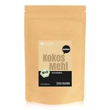 7,95€/kg Wohltuer Bio Kokosmehl Glutenfrei Cholesterinfrei 2kg Vorratspack