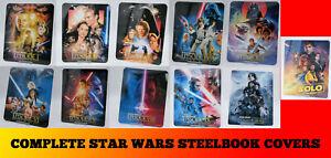 STAR WARS 1 2 3 Complete Sequel Prequel 11 BD Steelbook Magnetic Covers Art