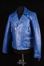 Cappotti e giacche da uomo blu in pelle taglia XL