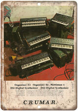 """CRUMAR Protagonist DS2 Digital Synthesizer 10"""" x 7"""" Reproduction Metal Sign E20"""