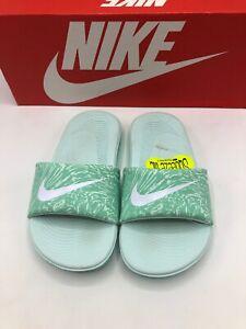 Nike Kawa Slide Print PreSchool 11c Mint White 819359 300 New in Box!
