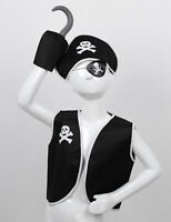 5Pcs Kids Pirate Costume Pirate Role Play Dress Up Sets for Halloween Cosplay