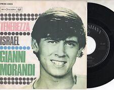 GIANNI MORANDI disco 45 giri TENEREZZA + ISRAEL Made in Italy