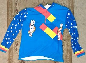 ***RARE*SKITTLES*Men*Cycling*Long Sleeve*Road*Winter*JERSEY***