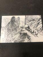 real photo postcard Wagons North B.C. Caravan Horses Pioneer Card Repro  I01