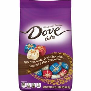 DOVE PROMISES Holiday Variety Chocolate Candy 24oz, Free Shipping