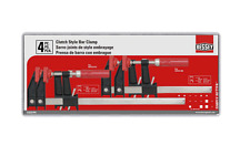 Bessey Clutch Style Bar Clamp 4-Pack Set of 6 & 12 in. Clamps Woodworking Tools
