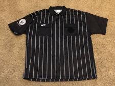 Official Sports Soccer Referee Jersey Men's Size XXL Black Short Sleeve