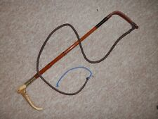 """George V1 H/M Silver 1947 Ladies Hunt Whip & Lash. (""""M.Rowell Temple grance"""")"""