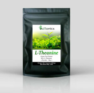 L-Theanine Green Tea Extract 50g Powder (95% Purity), Focus / Anxiety