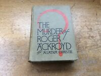 *AGATHA CHRISTIE - THE MURDER OF ROGER ACKROYD  1926 1st American edition