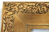 SM ANTIQUE FIT 4X6 GOLD CARVED OAK PICTURE FRAME WOOD FINE ART COUNTRY PRIMITIVE