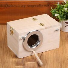 Indoor Solid Wood Nest Box Nesting Boxes For Small Birds Parrot Budgies Finches