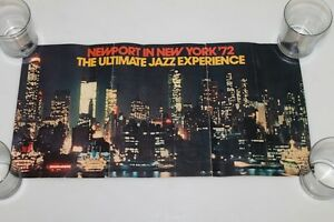 """1972 Newport in New York The Ultimate Jazz Expiriance Festival Poster 22"""" x 11"""""""