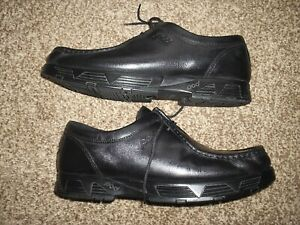 MENS POD SHOES. MOC TYPE, UK11 EU45, BLACK, IN GOOD USED CONDITION, 90's(?)