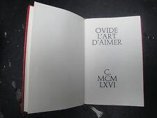 Livre - Ovide - L'Art d'Aimer - 1965