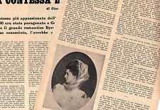 Q69 Clipping-Ritaglio 1961 Vita, amori e morte della contessa Lara