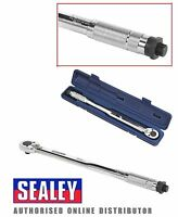 "Sealey AK224 Calibrated Micrometer Torque Ratchet Wrench 27-204Nm 1/2""Sq Drive"