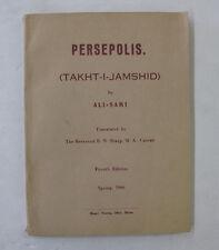 History Ancient Persia Iran Persepolis Takht-I-Jamshid Illus. Folding Plan 1966