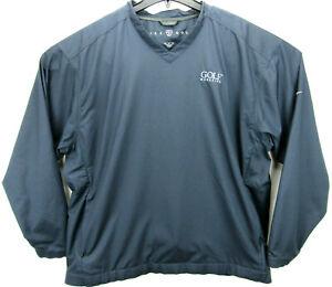 Nike Golf Men's Size XL Golf Pullover Windbreaker Jacket Windshirt Golf Magazine