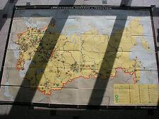School Wall Map Mining Russia 233x165 1969 Vintage Wall Map Card Russia Mining