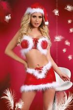 LIVCO CORSETTI Christmas Lust Bra Top, Hat, Skirt and Matching G-String Set