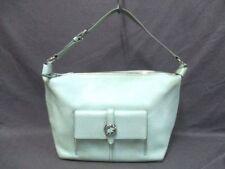 Auth HUNTING WORLD LightGreen Leather Shoulder Bag
