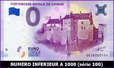 UE JE-1 / FORTERESSE ROYALE DE CHINON / BILLET SOUVENIR 0 EURO / 2018-1