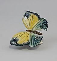 9941654 Porzellan Schmetterling grün/gelb Ens 11x7x7cm