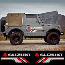 2 Adesivi portiera fuoristrada SUZUKI 4X4 Santana Samurai Jimny Vitara off road