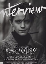 INTERVIEW FASHION MAGAZINE MAY 2017, EMMA WATSON Cover.