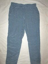 NEW! $268 Joan Vass size 1 one silk pant womens blue indigo casual sleep lounge