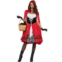 Adult Little Red Riding Hood Cape Fancy Dress Women Lady Halloween Party Costume