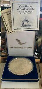 Washington Mint half pound silver coin With COA :