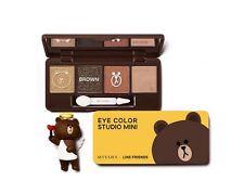 [Missha] X Line Friends Eye Color Studio Mini 7g (Brown Brownie)
