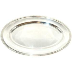 """Christofle Silverplate Vibrations Oval Serving Platter 12 1/2"""" by 17 3/4"""" Across"""