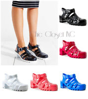 Women High Wedge Heels Retro Jelly Fisherman Sandals Summer Gladiator Shoes NEW