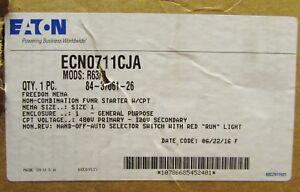EATON CUTLER HAMMER ECN0711CJA Size 1 120V AN19DN0 Starter Nema 1 Enclosure