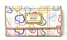 XOXO Hearts Clutch Wallet - Multicolored Money Credit Cards ID Holder 7in x 4in