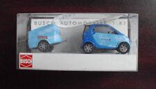 Busch HO 1/87 Smart Fortwo Car with Trailer Swisscom 48954 NIP