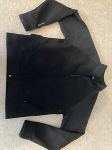Schott Black Zip Up Jacket Size XL