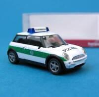 Herpa H0 045735 Mini Cooper Polizei Bayern Pressestelle München HO 1:87 OVP