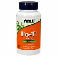 Now Foods FO-TI Ho Shou Wu Anti-Aging Pill 560 mg, 100 VCaps SKIN & HAIR SUPPORT