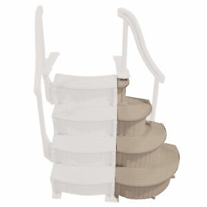 Confer CCX-ADD-VM 3 Step Above Ground Pool Ladder Staircase Add On Only, Beige