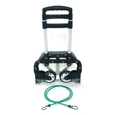170lbs Cart Folding Dolly Collapsible Trolley Push Hand Truck for Shopping Black